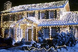 Amerikanische Weihnachtsbeleuchtung.Rudolph Santa Co Es Leuchtet Und Blinkt Im Garten Energieleben