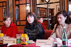 Eva Burger, SERI (links), Susanne Fromwald, GreenMonday (Mitte), Claudia Sprinz, Greenpeace (rechts). Bild: Birgit Hajek