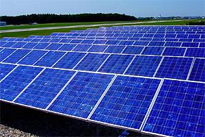 Photovoltaik-Anlage am Flughafen Salzburg, Foto: Sharp/PV Austria
