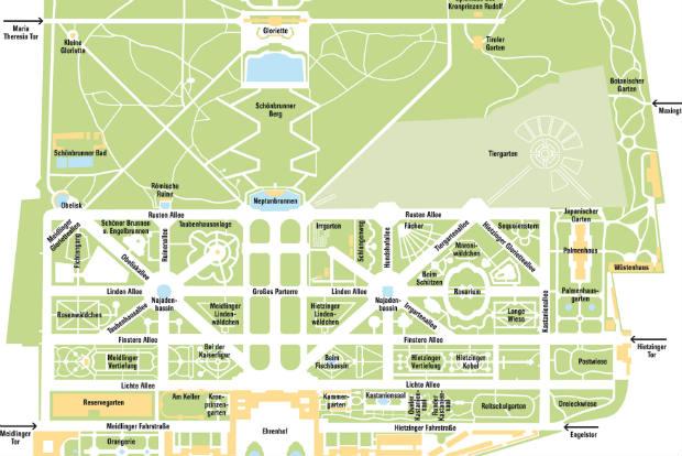 Der Schlosspark Schönbrunn: Wunderschöne Gärten und kein Autoverkehr, perfekt fürs Laufen.