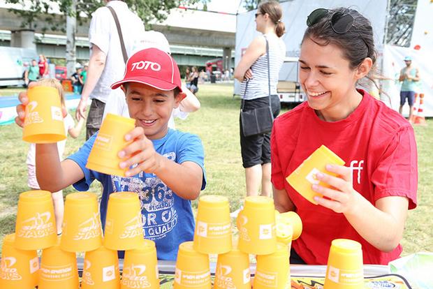 Donauinselfest 2014 Energieleben Kinder Spiele
