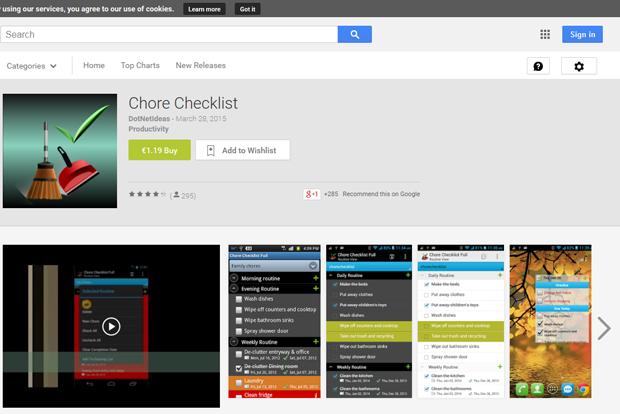 ChoreChecklist Putz-App