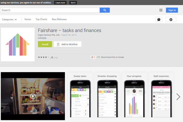 Fairshare Putz-App