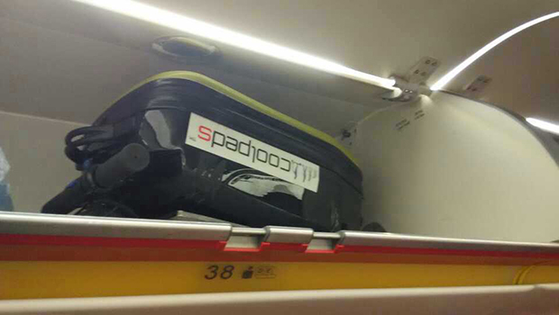 Coolpeds Briefcase onboard plane