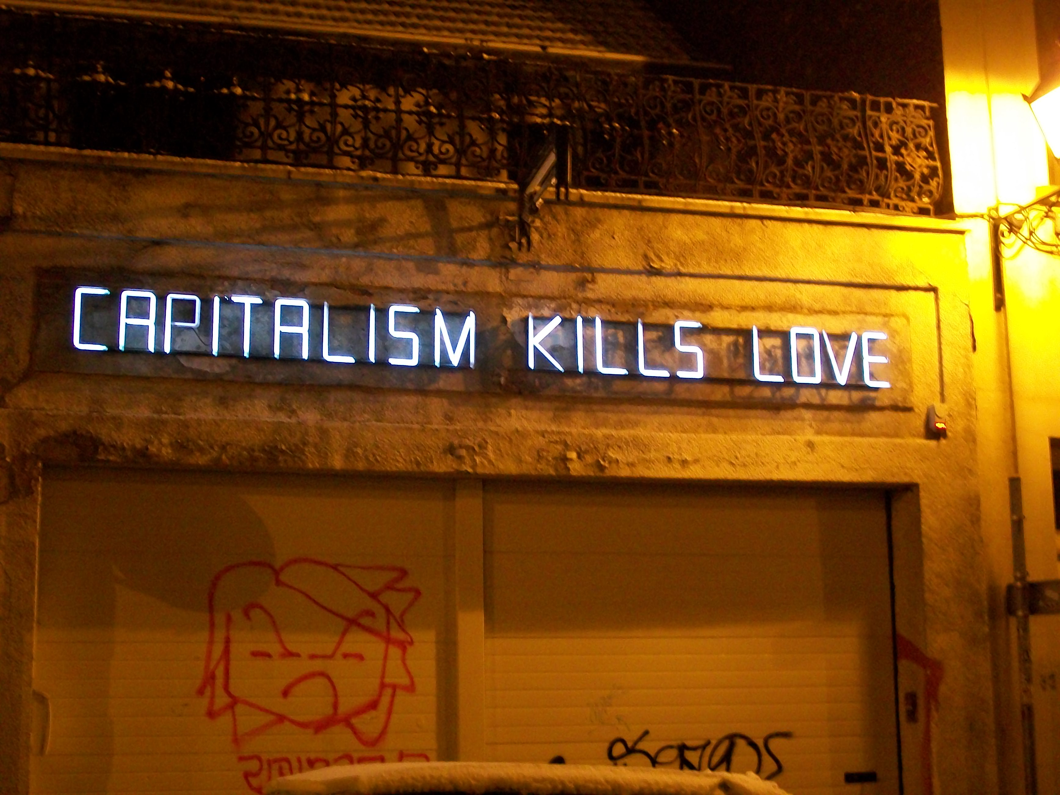 Capitalism Kills Love © Jeremy Hunsinger/Flickr