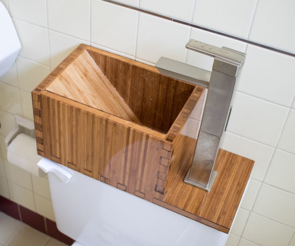 Toilet Top Sink by Jon-A-Tron, Instructables