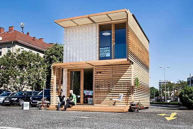 Mobile wohncontainer aus holz wohn design for Microhouse osterreich
