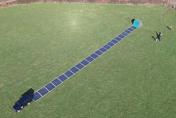transportables Solarpaneel