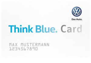 Ladekarte VW Think Blue. Card