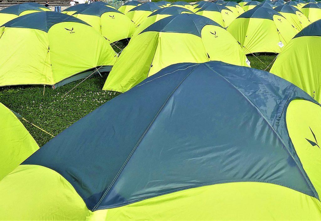 2. Verwende dein Zelt öfter