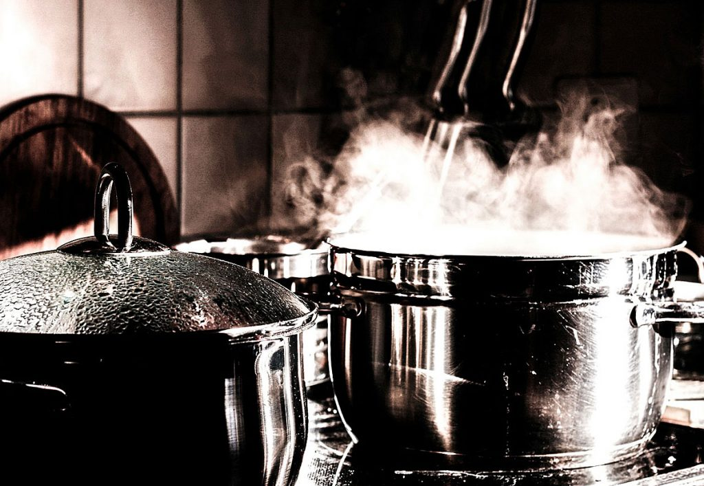 5. Deckel drauf beim Kochen