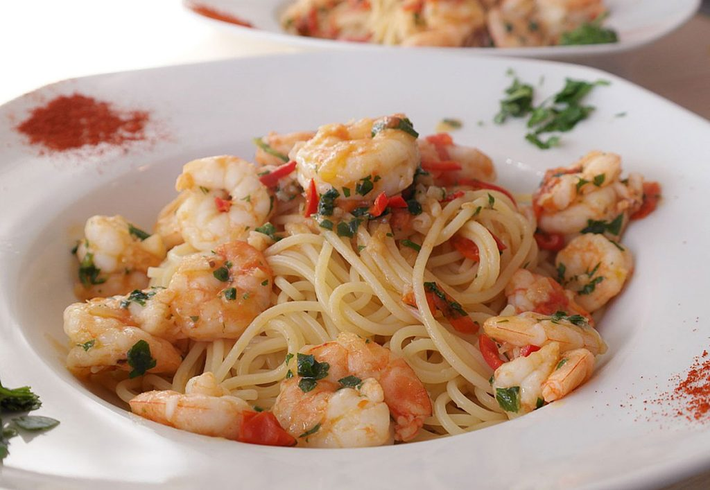7. One Pot-Pasta mit Shrimps