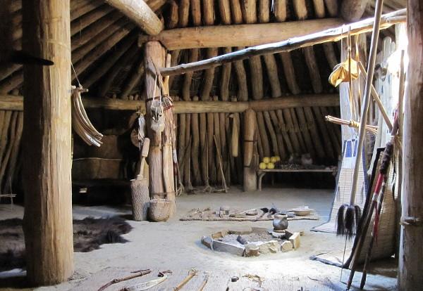 Reconstructed Mandan earthlodge interior