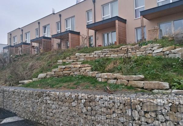 Trockensteinmauer - Terrasse