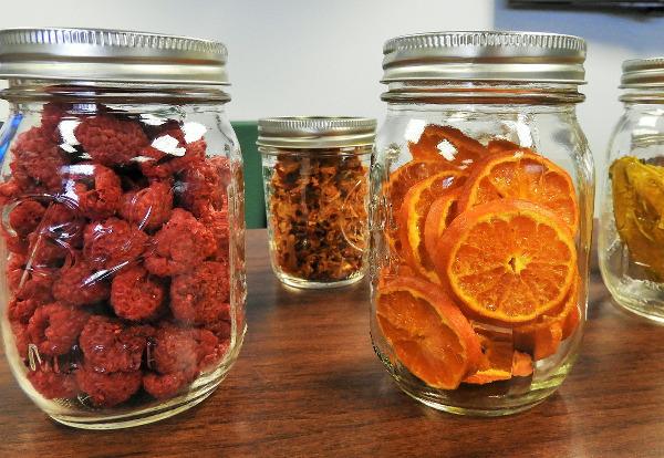getrocknete Früchte im Glas