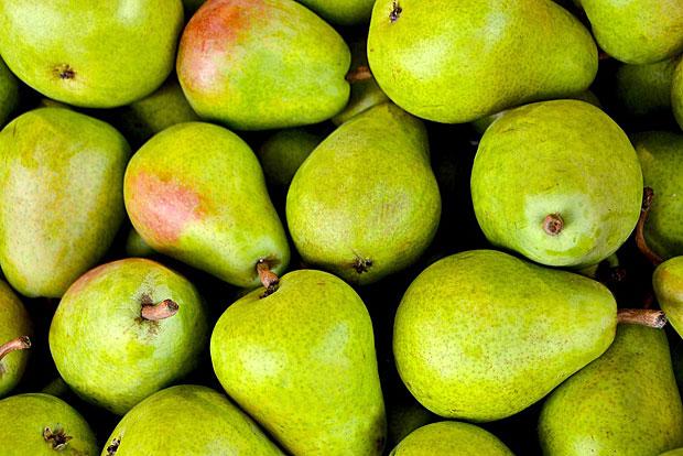 8. Birnen: Diese enthielten relativ hoch konzentrierte Pestizide, darunter Insektizide und fungizide