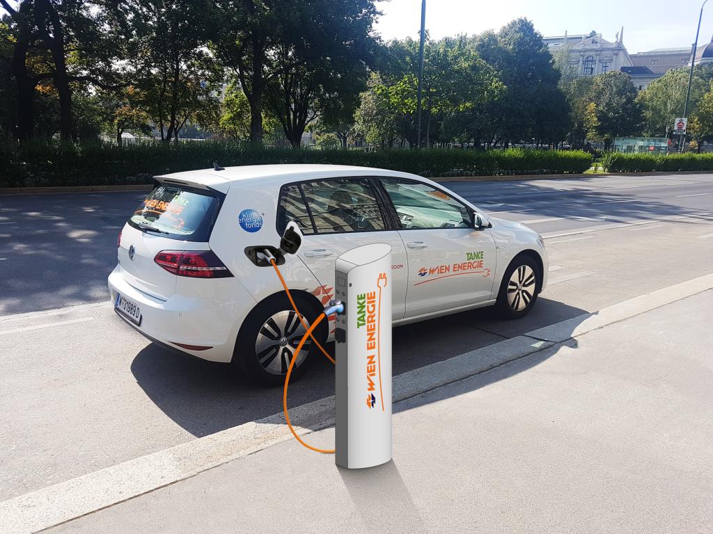 E-Ladestellen werden in Wien immer beliebter. - Fotocredit: Wien Energie