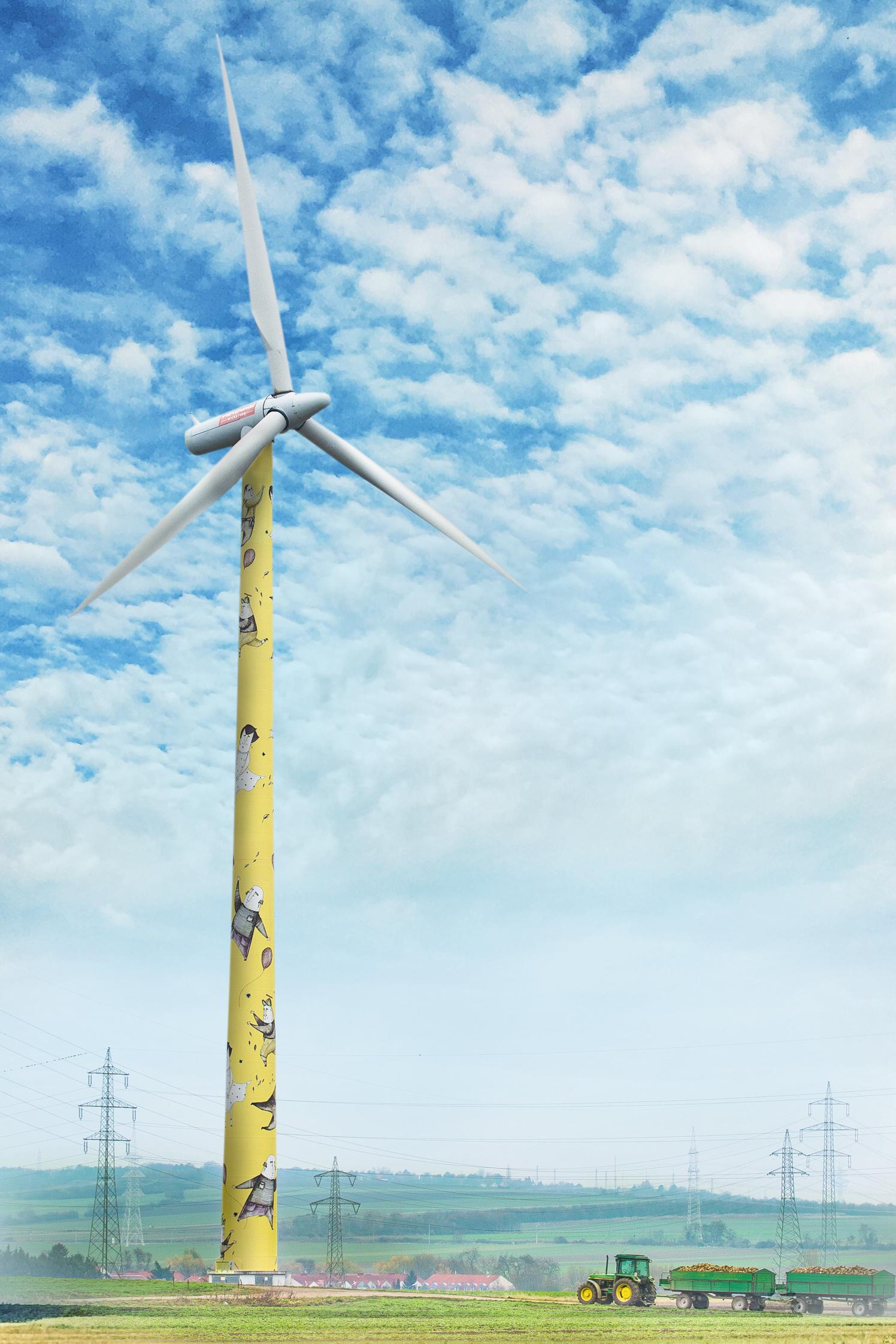 Kunstwindrad im Windpark Unterlaa © Astrid Knie