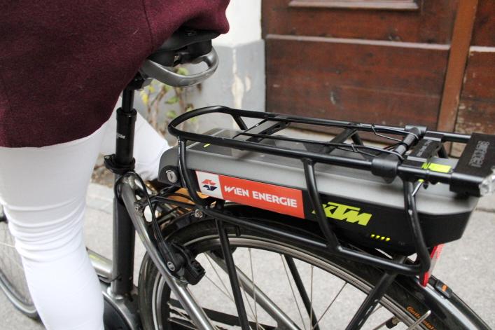 Ladestand des E-Bikes / Fotocredit: Pia Minixhofer