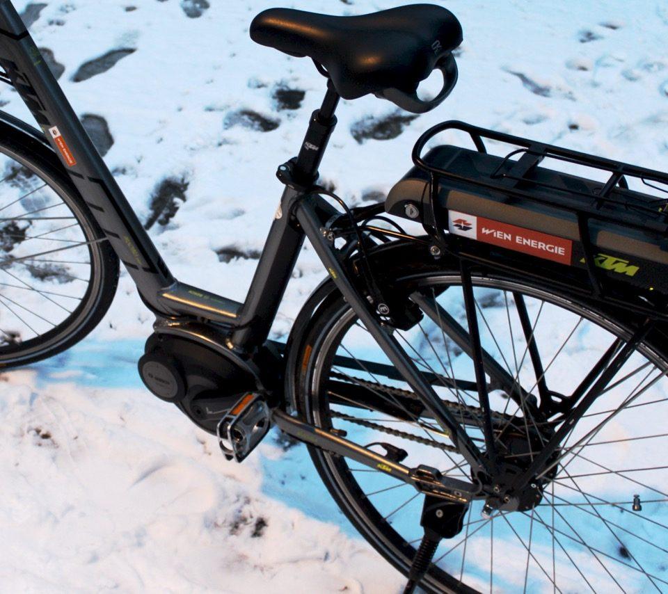 E-Bike im Winter / Fotocredit: Pia Minixhofer