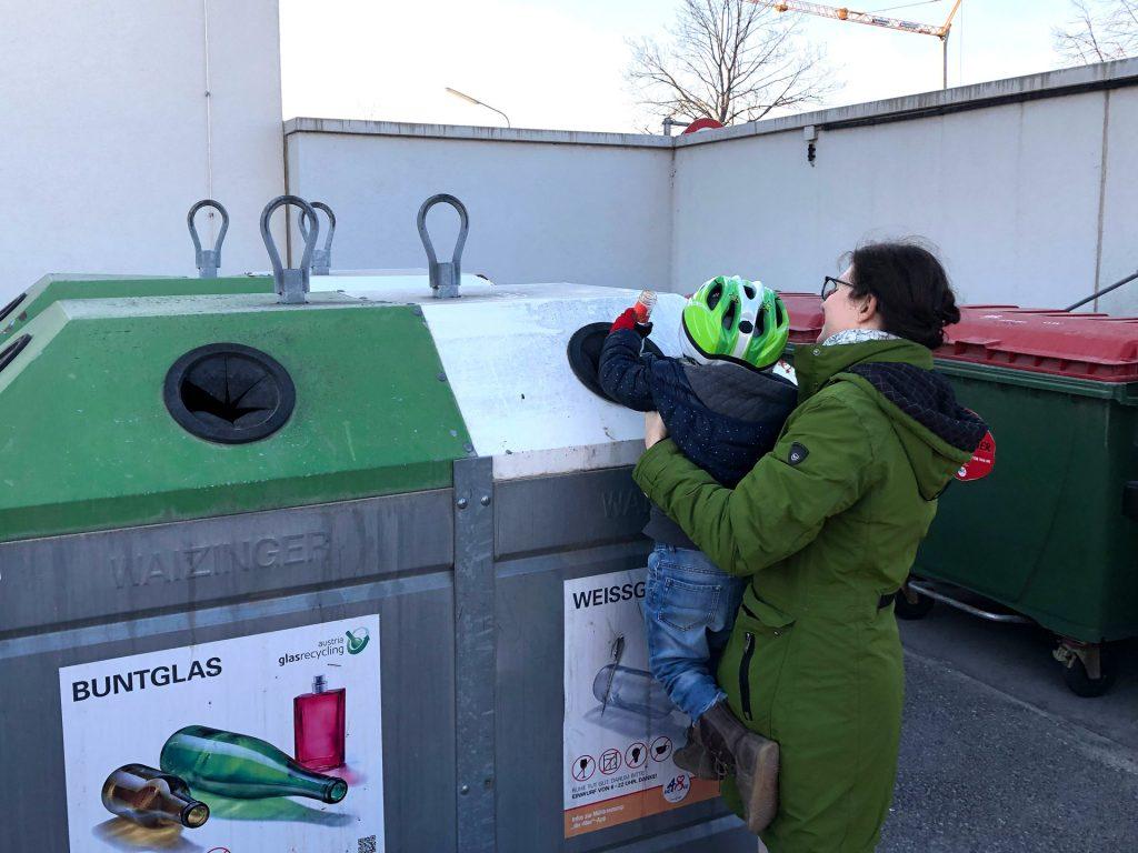 Mülltrennung, Fotocredit: Ulrike Göbl