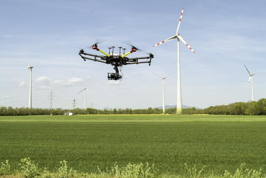 Drohnenwartung im Windpark Pottendorf, Fotocredit: Wien Energie