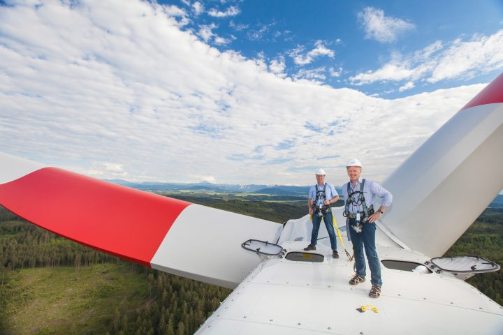 In Munderfing in Oberösterreich existiert bereits ein Windpark im Forstwald – Bild: © Astrid Knie