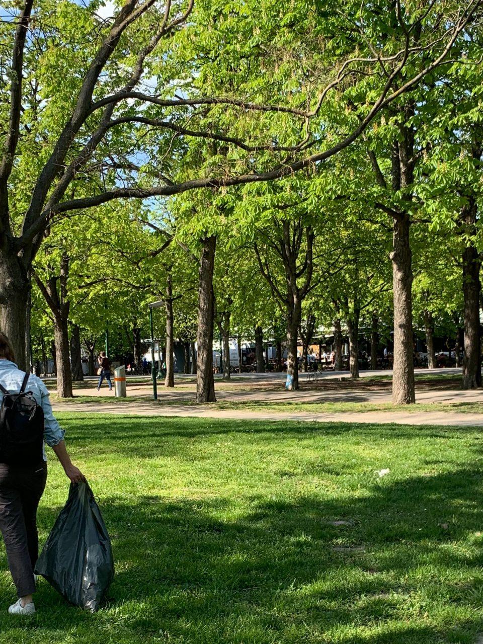Instawalk Müllsammeln in Wien. Fotocredit: Energieleben Redaktion