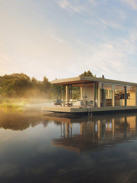 Nachhaltig und schick zu Wasser? Die Wohnschiff Manufaktur will das möglich machen / Foto: © Wohnschiff Manufaktur