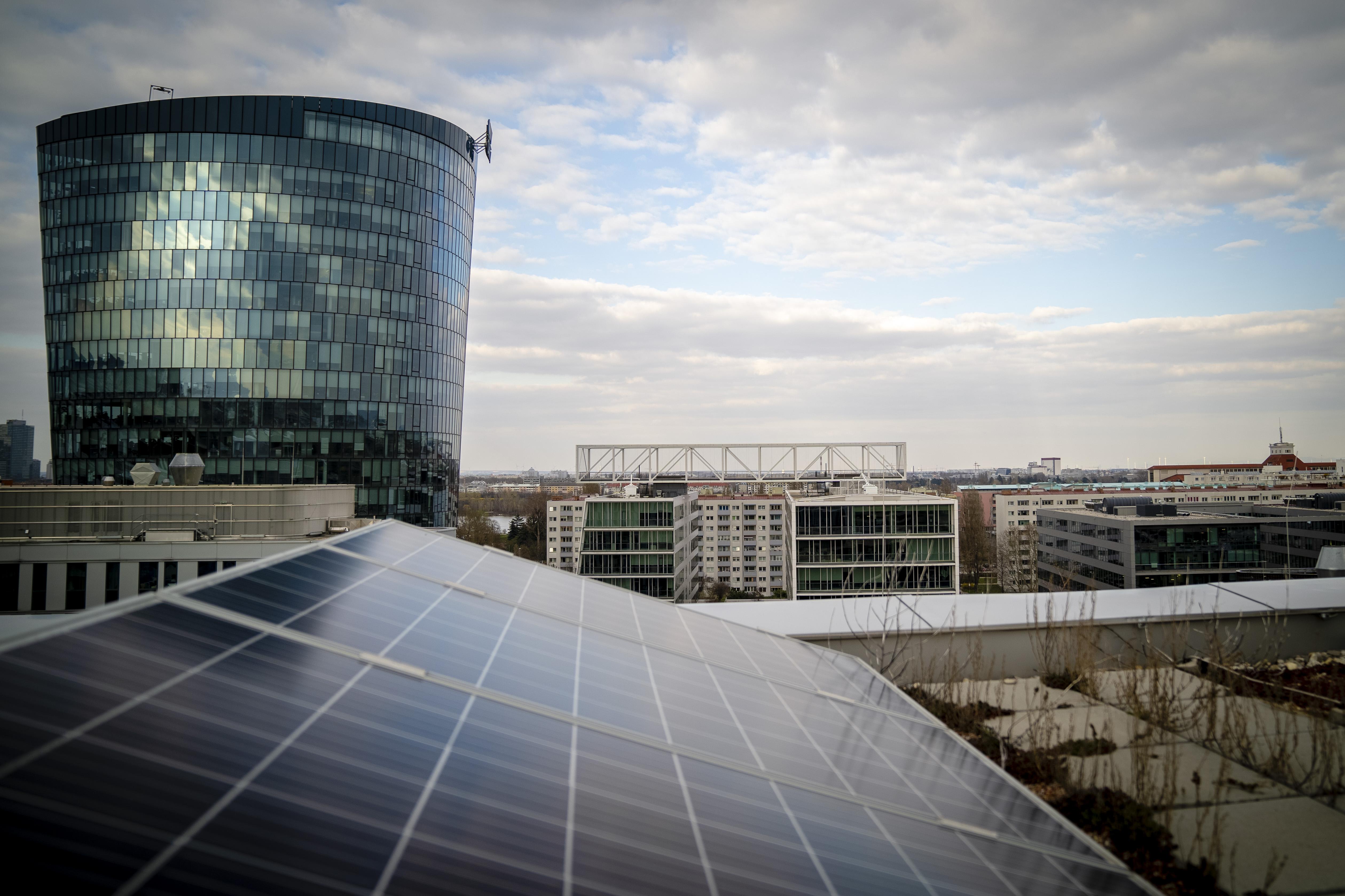 Die PV Anlage im Viertel Zwei.; Fotocredit: Wien Energie
