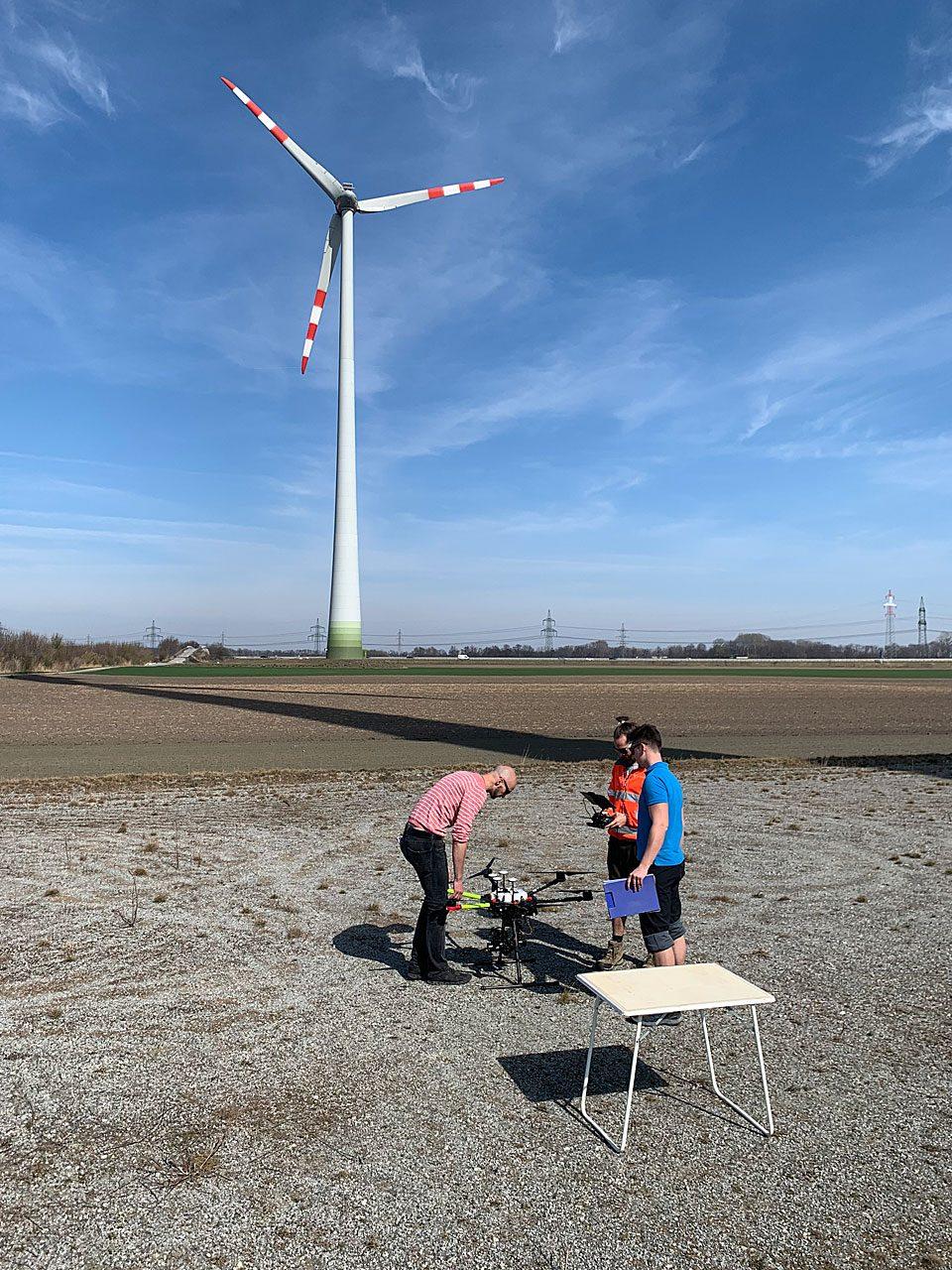 Drohnenwartung mit Skyability - Fotocredit: Energieleben Redaktion