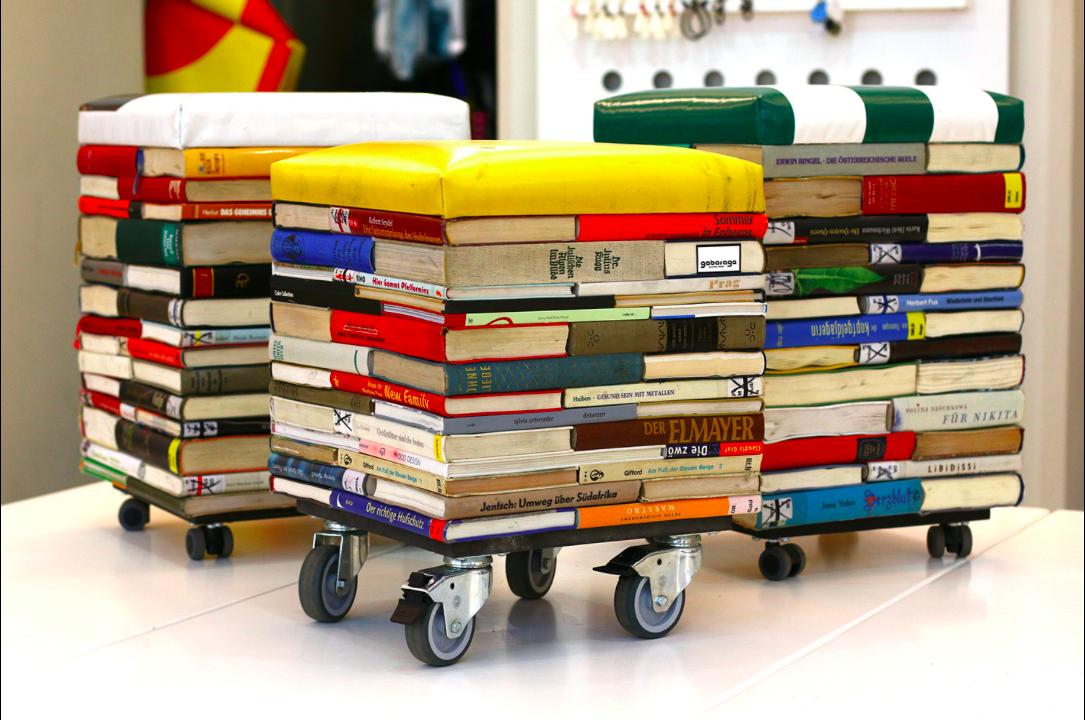 Auch alten Büchern kann stilvoll neues Leben eingehaucht werden., Fotocredit: Gabarage