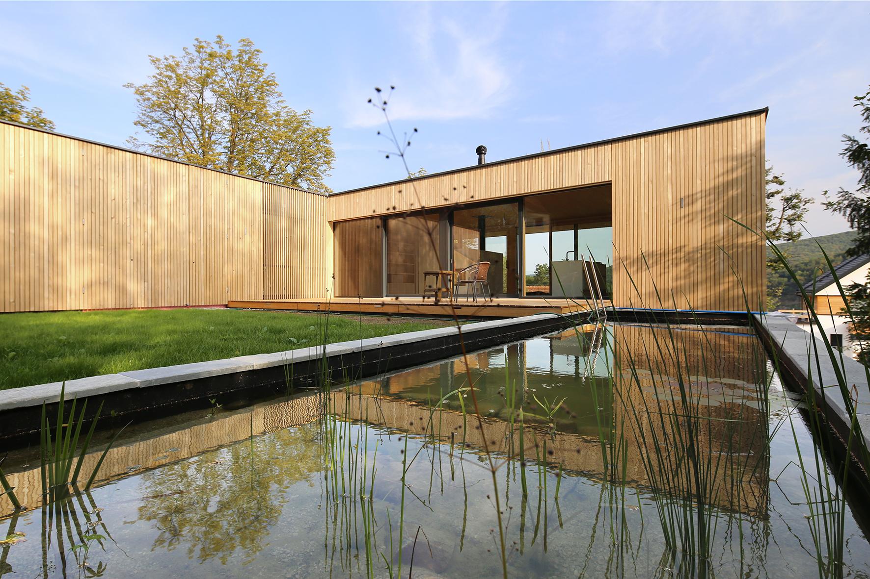 Das L-Haus in Purkersdorf wurde teilweise mit recyceltem Matereal erbaut / Foto: © Juri Troy