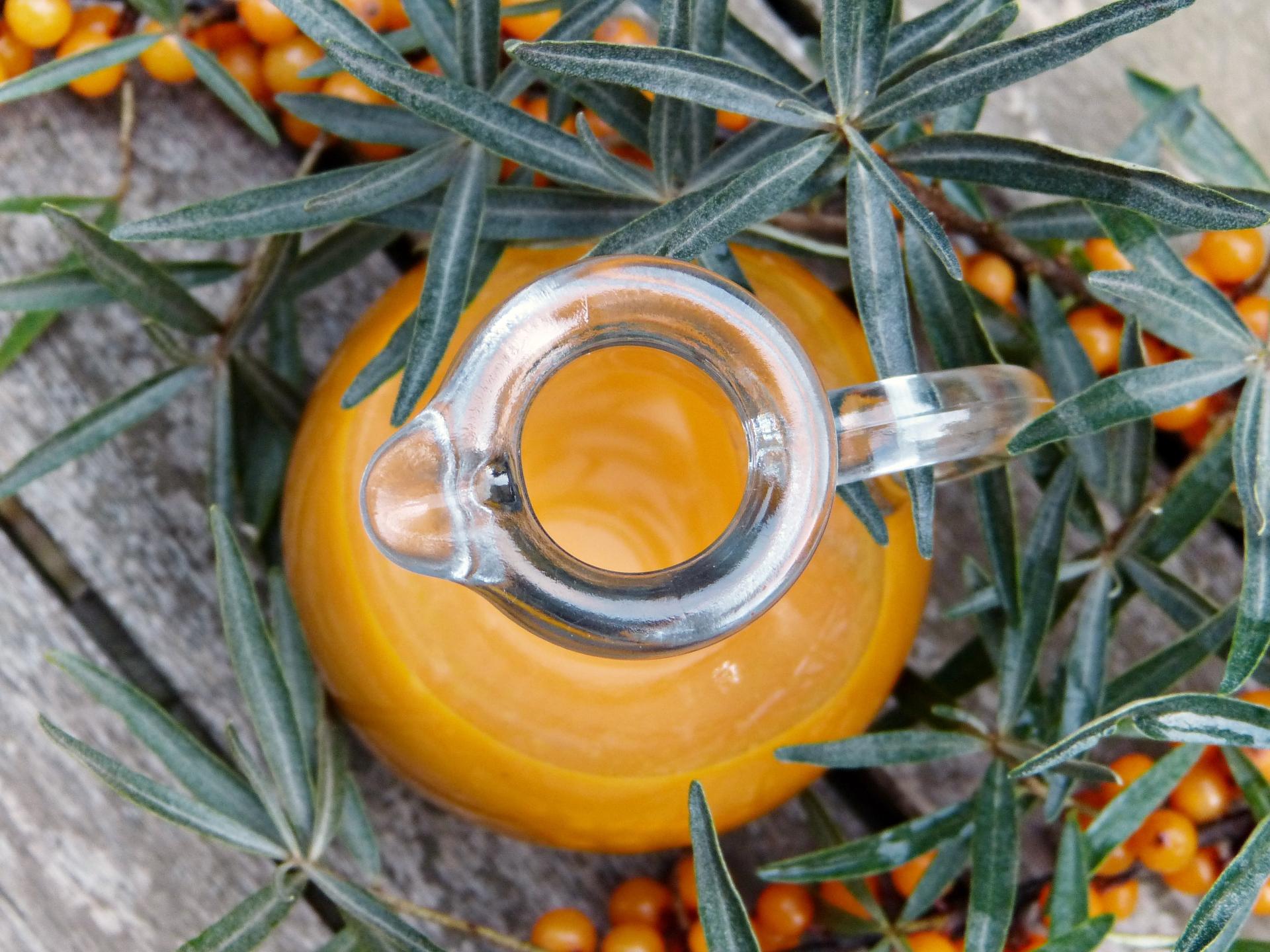 Sanddorn-Saft hat eine kräftige Farbe und viel Vitamin C. - Photocredit: pixabay.com/silviarita