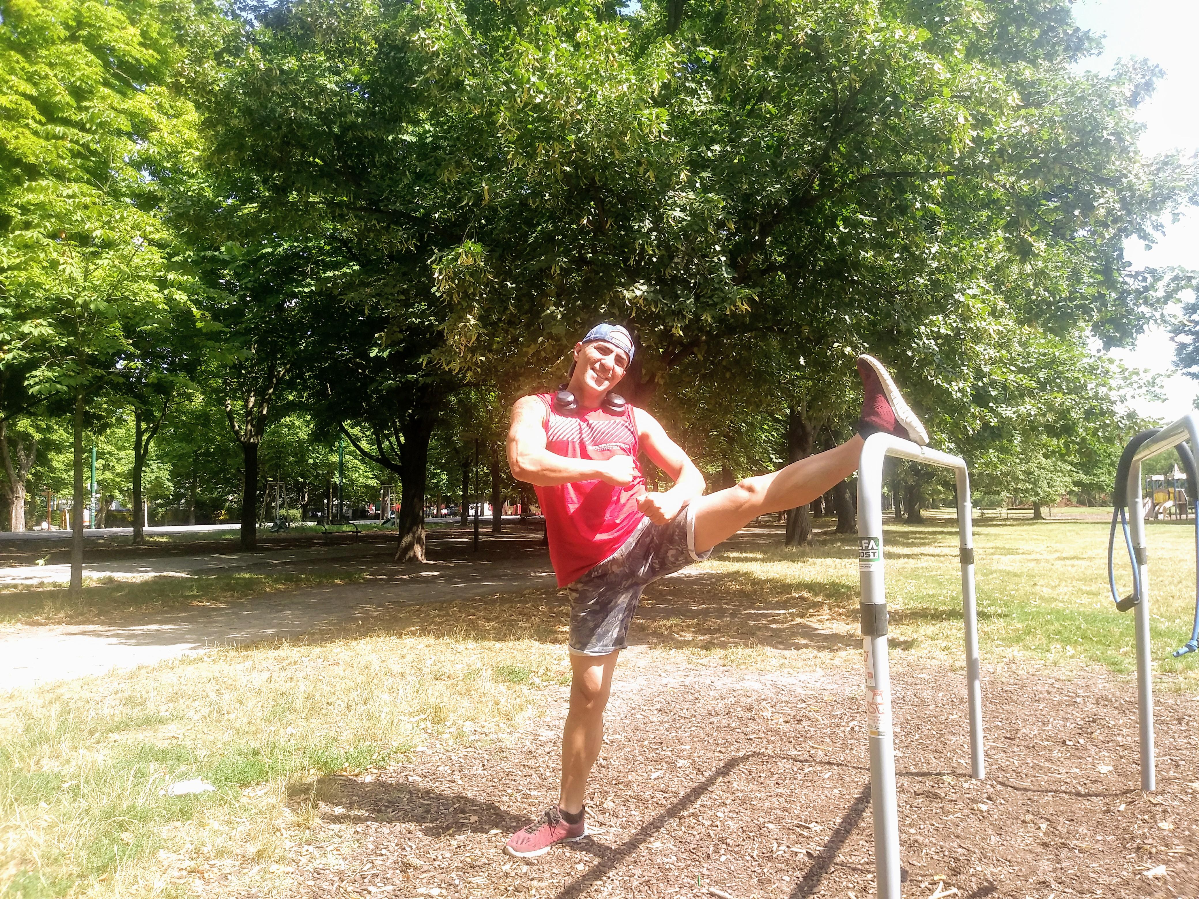 Ali Yaghoubi schätzt den Prater als ideales Sportgebiet