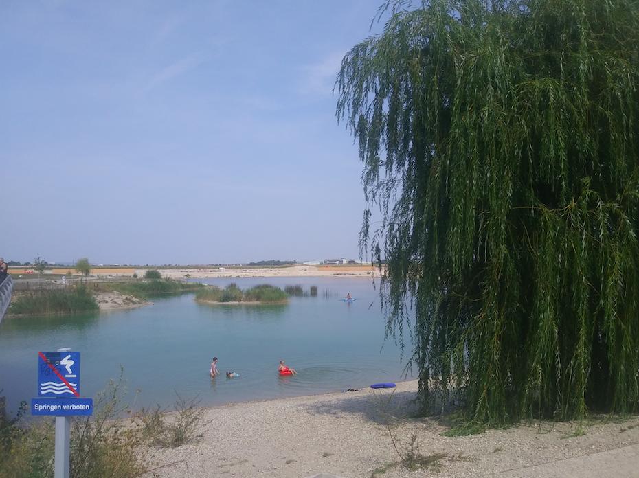 Hier darf man baden – Strand in der Seestadt Aspern