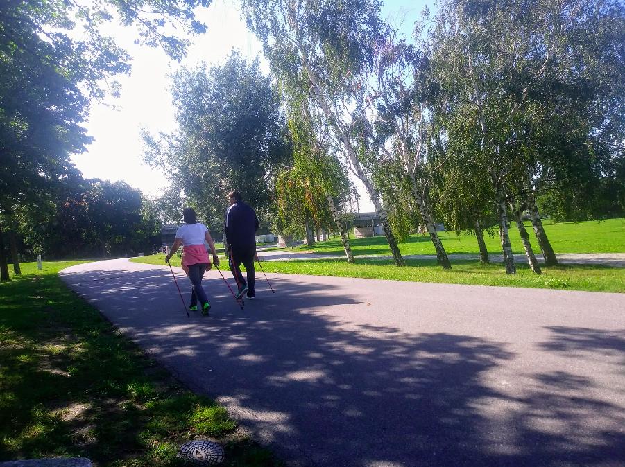 Joggen, Inlineskaten oder Nordic Walking – hier ist ausreichend Platz für alle, die sich im Grünen bewegen wollen.