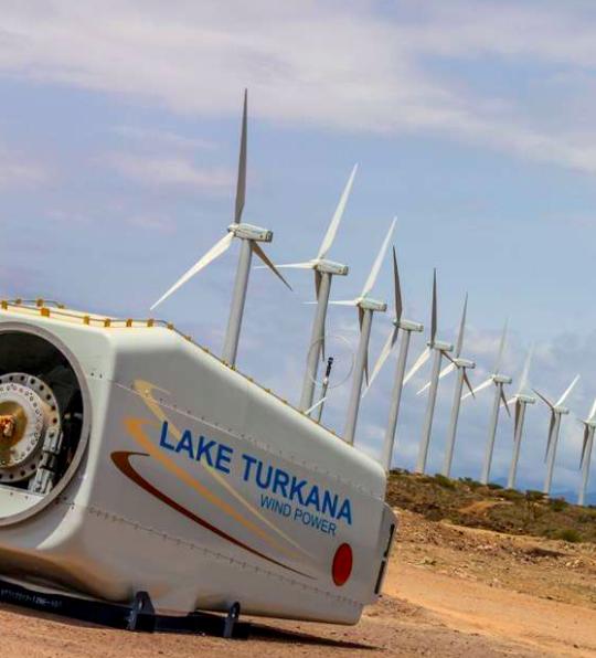 1,5 Millionen Haushalte soll der Windpark mit erneuerbarer Energie versorgen. – Foto: © Lake Turkana Wind Power Ltd