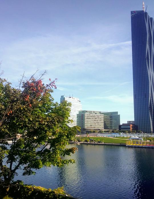 Wolkenkratzer trifft auf Natur – die Donauinsel ist ein Naturjuwel mitten in der Stadt