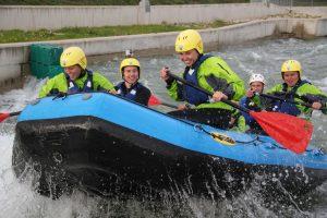 Rafting in der Metropole: Die Watersports Arena macht's möglich!, Fotocredit: Vienna Watersports Arena