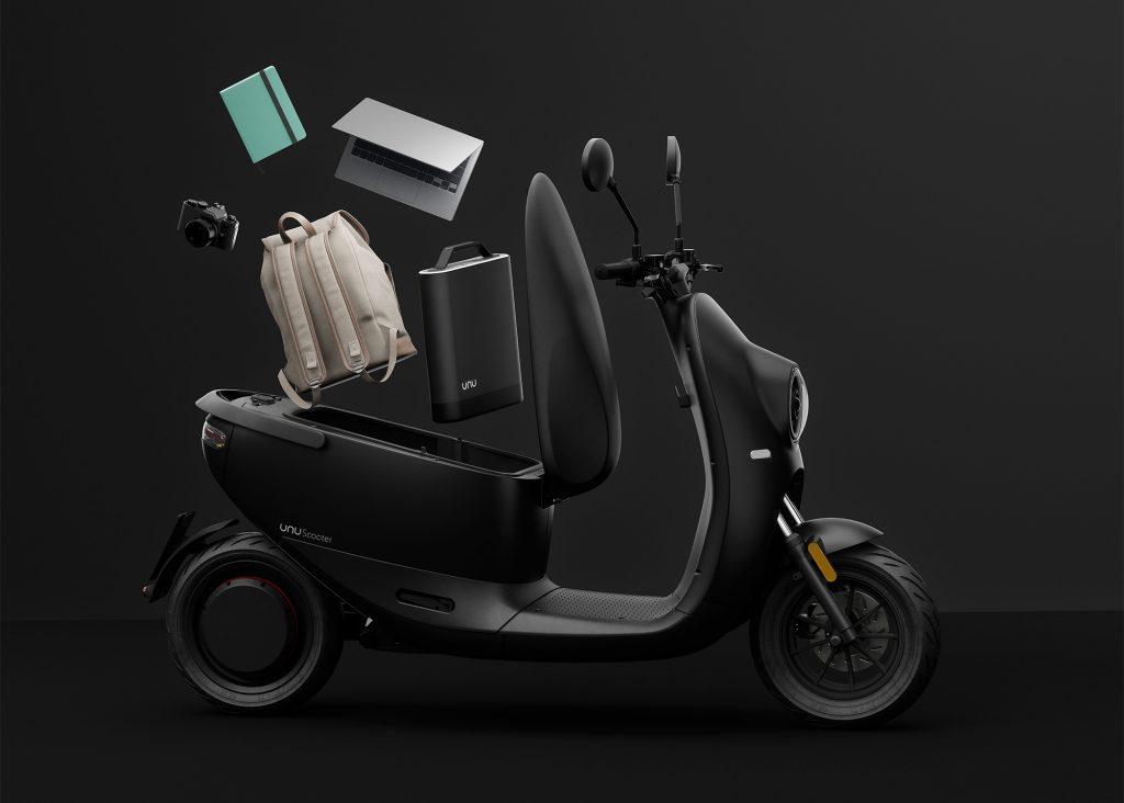 Der neue E-Scooter von unu mit noch mehr Stauraum / Fotocredit: unu