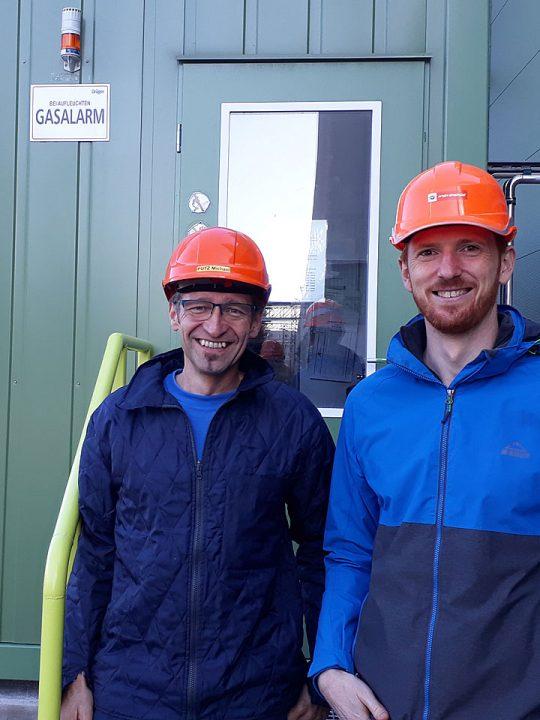 Ernst Höckner (rechts) mit Projektmitarbeiter Michael Putz - Fotocredit: Wien Energie