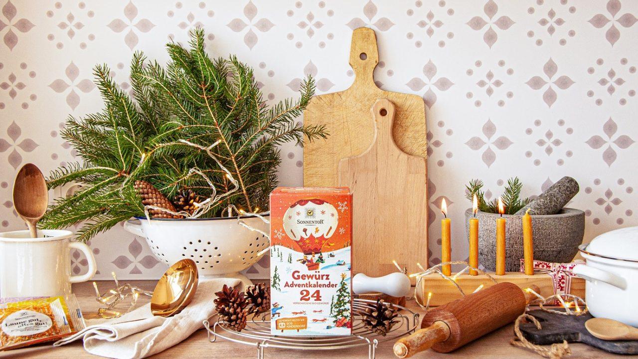 Der Gewürzadventkalender von Sonnentor sorgt für kulinarische Highlights in der Vorweihnachtszeit. -Fotocredits: SONNENTOR
