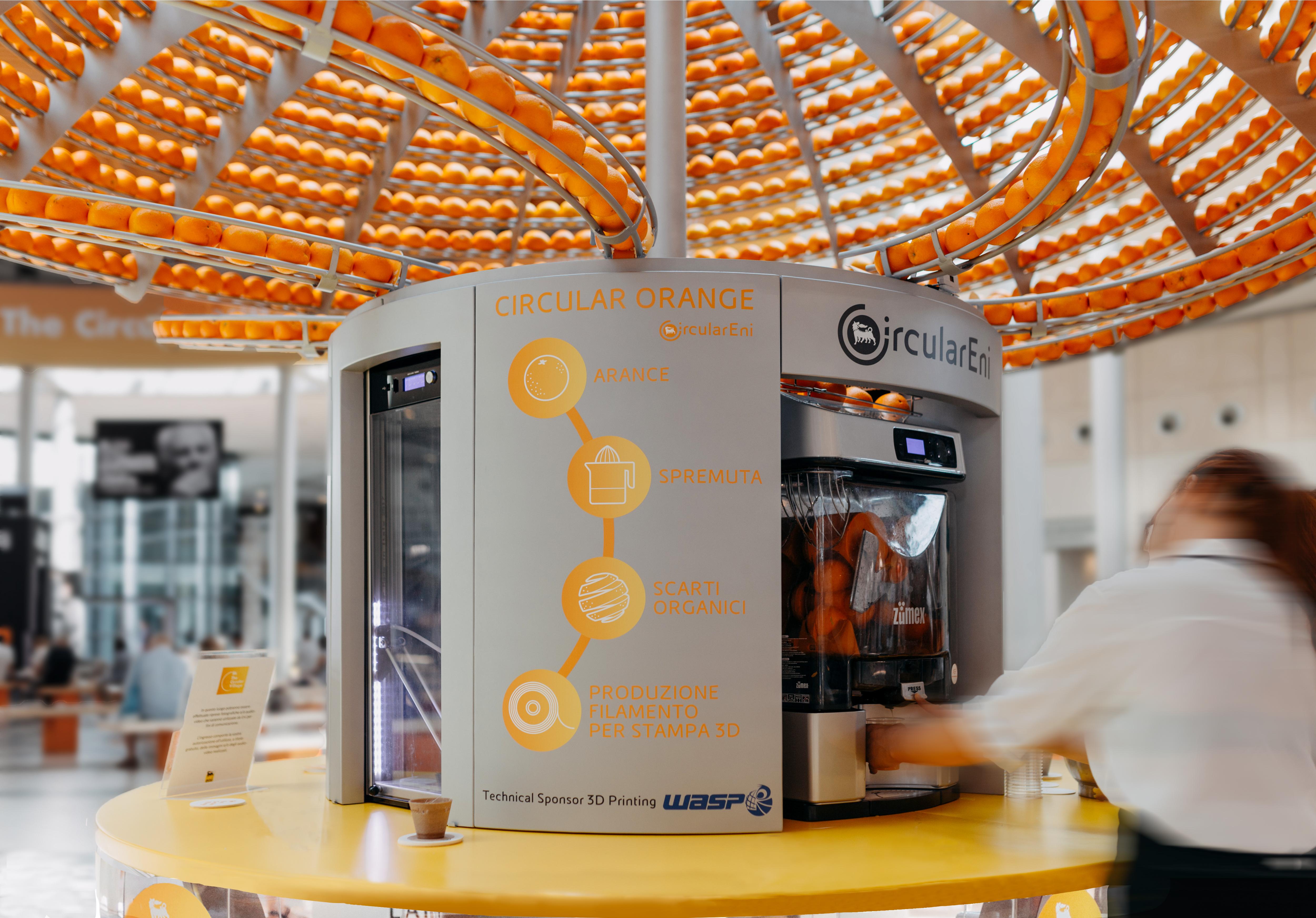 Feel the Peel – die Orangenpresse als innovative Kreislaufwirtschaft – Foto:  © Nicola Giorgetti