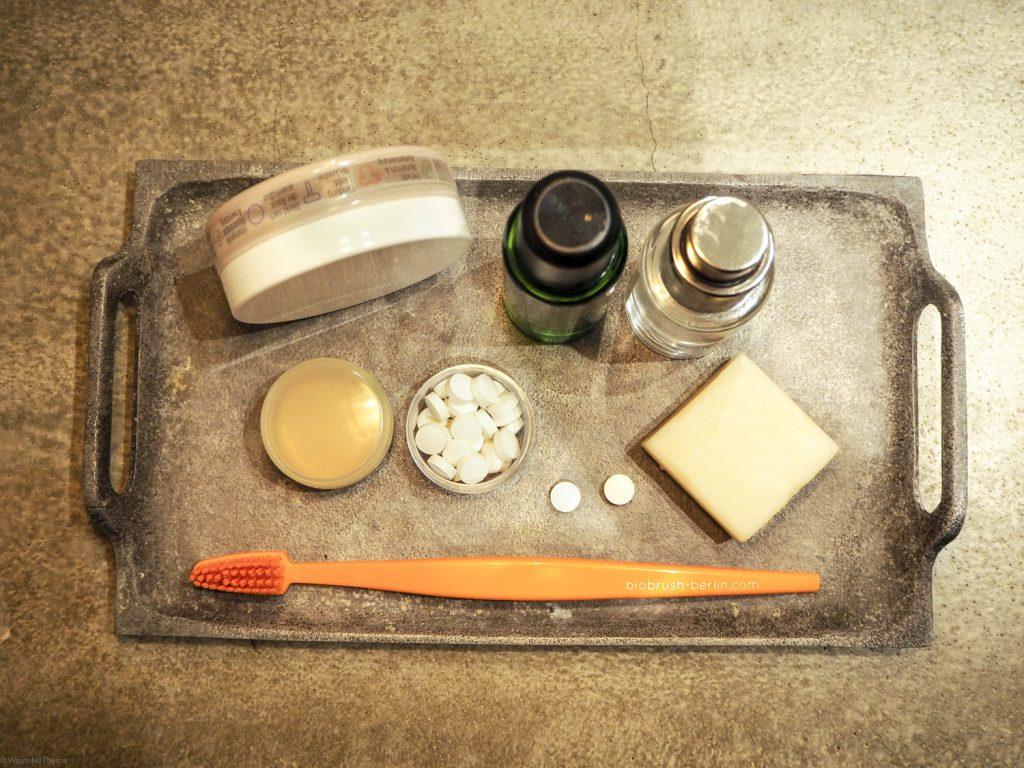 Zero Waste Travel im Badezimmer, Fotocredit: Ulrike/Waste no Thyme