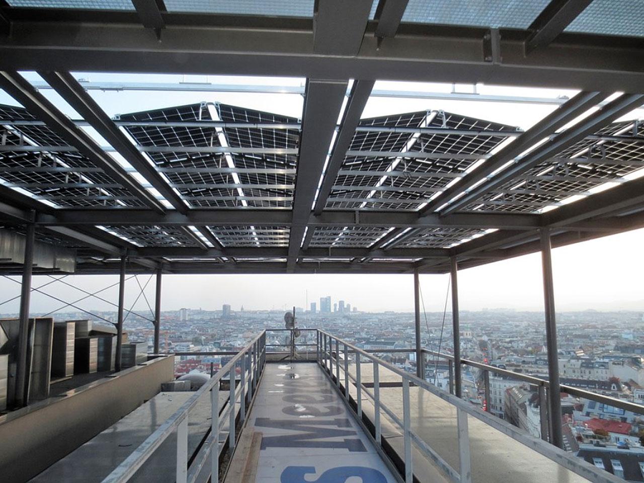 So sehen die biphazialen Solarpanele aus - Fotocredit: Haus des Meeres