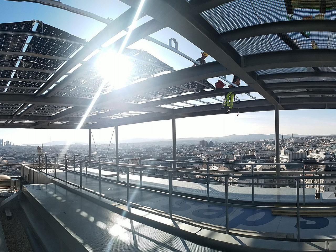 Die PV-Anlage am Haus des Meeres - Fotocredit: Wien Energie