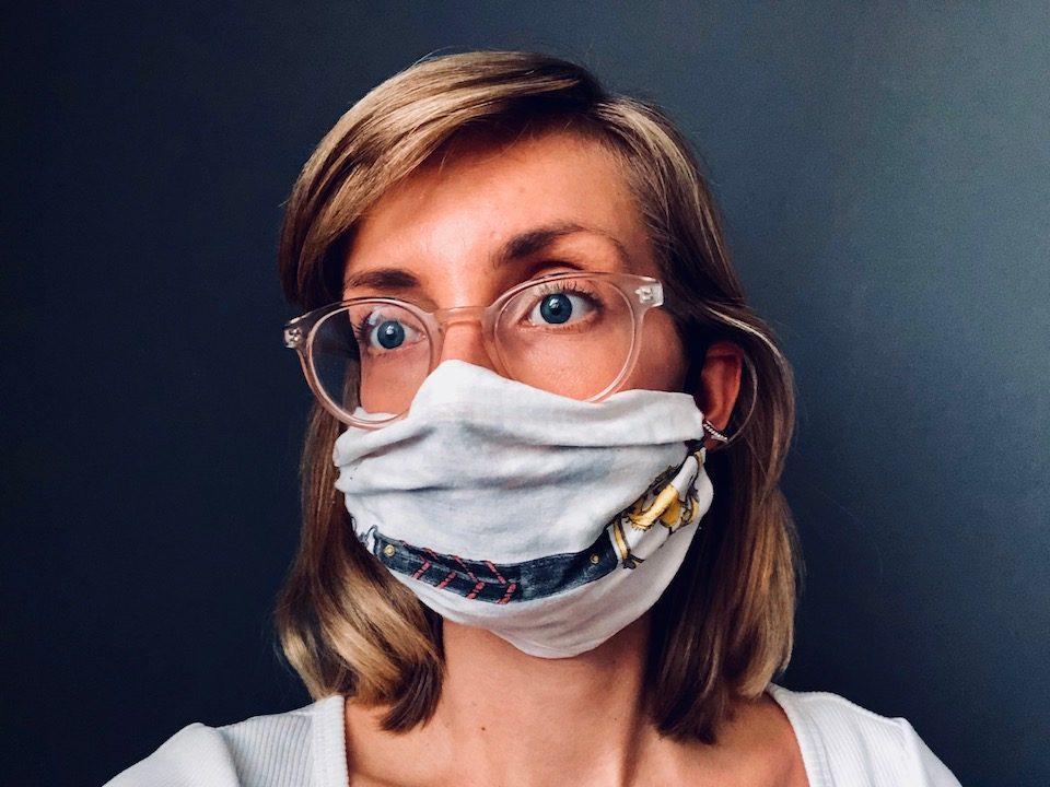 Fertig ist die Atemschutzmaske! -Fotocredits: Lisa Radda