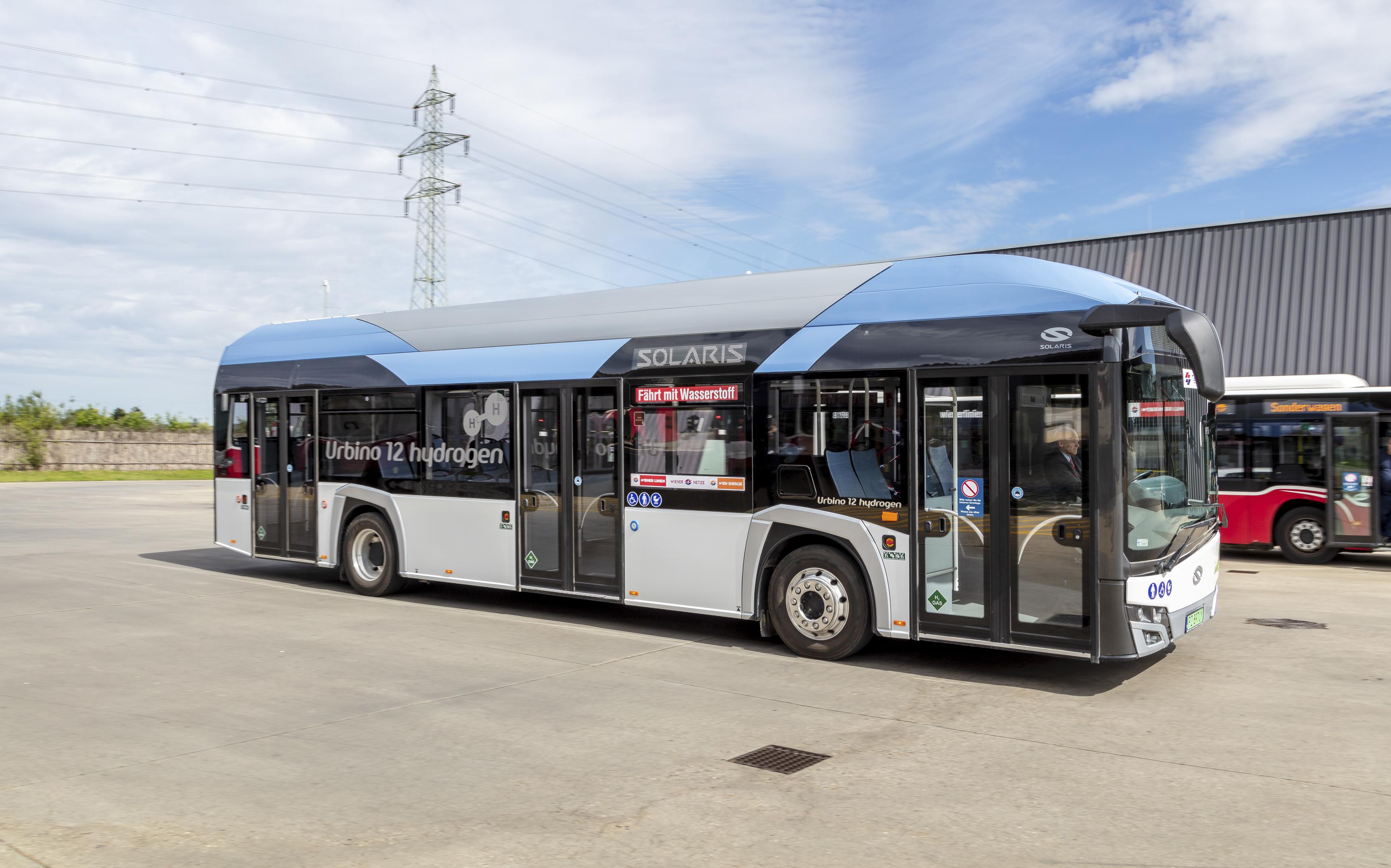 Zehn solcher Wasserstoffbusse sollen in drei Jahren Teil der Wiener Linien Bus-Flotte sein. Foto: © Manfred Helmer/Wiener Linien