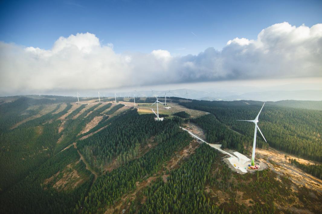 Der Windpark am Steinriegel in der Steiermark liefert sauberen Strom für 24.000 Haushalte. Fotocredit: © Wien Energie/EHM